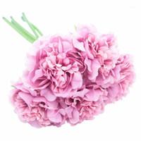 1bunch peonia fiori vintage seta artificiale 5 singoli steli per bouquet, casa / decorazione di nozze, ghirlande, accordi floreali1