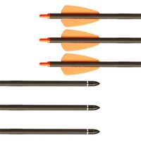 Vis champs FLOW TIPS Pure Carbon Flèches OD 7.5mm Chasse Articles arbalurant avec la lune Type Nock pour la prise d'arc de pêche en arc composé