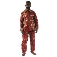 Ropa étnica MD South african Tradicional Ropa de alta calidad Ropa de Riche para hombres Camisa con pantalones Traje Bordado Tops1