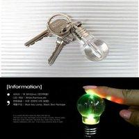 Ampul Anahtarlık LED Işık Anahtarlıklar Torch Anahtarlık Renkli El Feneri Gökkuşağı Renk Anahtarlık Ampul Kolye Güreş Kırık Ampul AAD2755