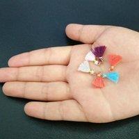 100 stück Multicolor Baumwolle Mini Quaste Pend Fransen DIY Schmuckherstellung Ohrring Halsketten Kleidungsstück Quasten Spitze Zubehör Material H Jllomh