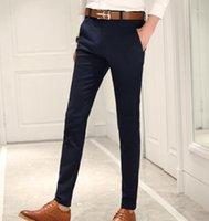 Ternos Masculinos Blazers Primavera e Verão Masculino Casual Dress Calças Slim Skinny Homens Terno Comercial Western-Style Business Herren Heen1