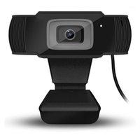 Caméscopes 30 degrés RotaTable 2.0 HD 1080P / 480P Webcam USB Camera vidéo enregistrement vidéo avec microphone pour ordinateur informatique PC1