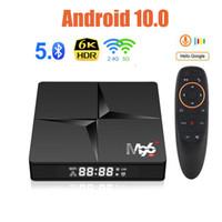 جديد 4 جيجابايت RAM 32GB ROM M96 + Android 10.0 TV Box صوت Remote RK3318 رباعي النواة المزدوج واي فاي مشغل الوسائط الذكية VS H96 ماكس