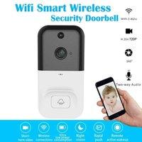 Inteligente Wifi vídeo sem fio campainha 720P Intercom Phone Call Campainhas Camera Infrared Remote Registro Suporte TF