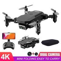 Ahoha Mini Drone 4K 1080P HD Dual Camera Складной Дрон широкоугольный WiFi FPV Высота HOLD CADCOPTER Professional RC Drone Toy 201208