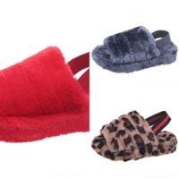 chw mannen slipper casual crocus klompen met bont winter schoenen voor hete zachte pluche sonic pluche slipper kind nieuwe slippers fleece open teen voering
