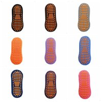 Pegamento calcetines de piso antideslizante para adultos niños invierno régimen corto calcetín casas yoga deporte calcetines bebé moda diseño calcetines FWC3235