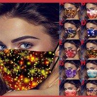 Christmas face máscara atmosfera atmosfera fogos de arte fogos de cabelo brilhante ponto de poeira à prova de poeira ventilação lavável boca máscaras 3 5zxa k2