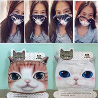 Партии маски хлопка пыленепроницаемый рот лицо маска 3d мультфильм милый кошачий личность моющиеся для женщин мужчины diy dear1