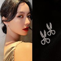 Системный корейский стиль индивидуальность маленькие ножницы хрустальные серьги со стразами 2021 ювелирные изделия Серьги 079