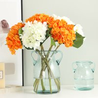 10 цветов искусственная гортензия поддельных цветов для цветочных свадебных украшений дома цветы