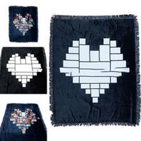 التسامي فارغة الحب القلب البساط المنزلية مربع بطانية الأزياء الدفء البطانيات الصوفية الرجال النساء البساطة 66EX4 P2