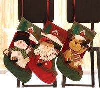 2020 new Cartoon christmas socks gift bag cute christmas tree decoration pendant party holiday gift supplies dropshipping F5301