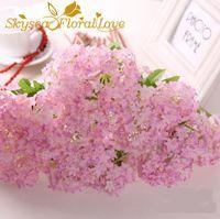الزهور الزهور أكاليل زهرة الاصطناعي هيدرانج الزفاف الديكور المنزل حزب الحرير وهمية diy