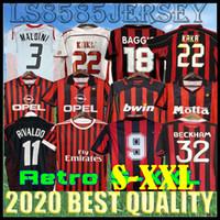 90 91 Retro Milan Camiseta Home 96 97 Gullit Jersey 02 03 04 Maldini Van Football Ronaldo Kaká Inzaghi 06 07 Milão 09 10 Shevchenko