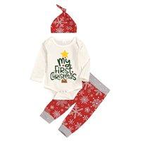 طفل ثلاث قطع الملابس مجموعات الطفل السروال القصير للبنين بنات سروال الشعر Hairband القبعات بلايز الملابس عيد الميلاد للأطفال مجموعة هالوين