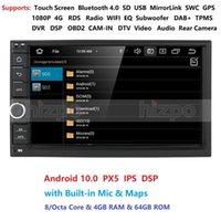 4G 64G ROM Octa Core Android 10 Auto Radio Quad Core 7 pollici 2Din Car No DVD Player GPS Stereo Audio Head Unità DAB DVR OBD BT DVD