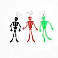 Новый Хэллоуин Череп Акриловые Серьги Серьги Смешные Скелет Мода Прохладный Панк Серьги Драки для Хэллоуин Рок Женщин1