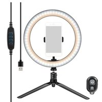 10 Inch LED Ring Light Dimmable Selfie Lamp with Tripod for ...
