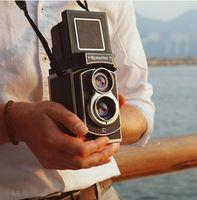 Mint Rollesiflex Instant Camera Twin-Lens Instant Camera Verwenden Sie Instax-Mini-Film