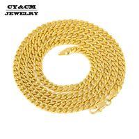 Chaînes Cycm Hommes HiPhop Punk Cubain Lien Chaîne Collier Gold Argent Couleur En Acier Inoxydable En Acier inoxydable Bijoux 2.5mm5mm Longueur 50/60 / 70cm