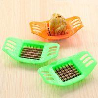 Taglierina in acciaio inossidabile Potostos Chips Verdure Sticker Sticker Cooking Cucina Patata Mashers Strumenti YHM605