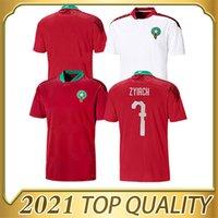 2020 2021 European Maroc Soccer Jerseys Home Away 20 21 Maroc Maillot de pied Ziyech Boutaib Boussoufa Chemise de football