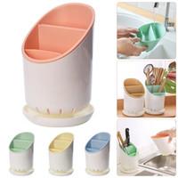 Tools Rails посуда дренажные стойки Двухслойные съемные палочки для палочек для палочек для палочек для хранения ножей Multi функция организатор кухни
