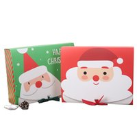 Christmas Eve Big Gift Box Santa Claus Fairy Design Kraft Pa...