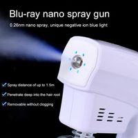 DHL de envío inalámbrico de mano eléctrico Charged Nano desinfectante de la mano la pistola de pulverización de 250 ml azul claro Nano nebulizador spray desinfectante de la máquina