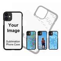 Sublimação em branco Caso Mobile-phone Case Transferir Designer Casos para iPhone 12 11 Pro X XR XS Max com inserções de alumínio