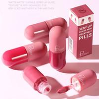 18 cores da marca Mini Capsule Lip Glaze duradoura Cup não Stick Silky Matte Nude batom cor Waterproof Maquiagem Batom Lip Gloss DHL