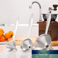 3 stücke Edelstahl Griff Trichter Set Essentail Ölübertragungsflasche Küchentools