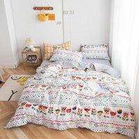 Bonenjoy Literie simple / Reine Coton Pur Linge de lit Sets Bohemia Style juego de cama housse de couette avec Taie