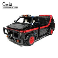 NEW MOC Building Blocks Compatible MOC-5945 A-Team Van Technic Bricks Fit lepining Brick Diy Toy Christmas Toys Birthday Gifts X0102