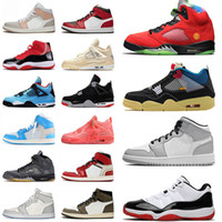 with box stock x 남성 여성 original 신발 Nike Air Jordan Retro Jordans shoes mid 1 1s Milan mens womens Cactus Jack 4 white Sail off 5 jumpman What The Concord 11 low trainers sneakers