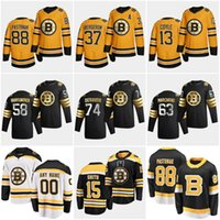88 David Pastrnak Boston Bruins 2021 retro reverso Zdeno Chara Patrice Bergeron Tuukka Rask David Krejci Brad Marchand Connor Clifton de homens