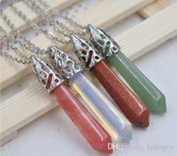 Halsband Hängen Healing Crystal Divination Reiki Healing Bead Pendulum Pendants halsband