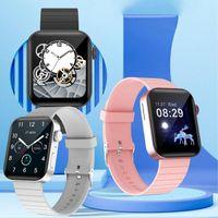 P40 Akıllı İzle Kadın Erkek 1.65 Inç Tam Dokunmatik Ekran MTK2502C Kalp Hızı Monitörü Bluetooth Çağrı Push Mesaj Smartwatch