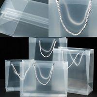Sacs-cadeaux de Noël en PVC transparents en plastique dépoli Emballage transparent Sacs à main Party Favors Sacs étanches à la mode 1 88gc G2