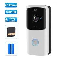 Hestmaho WiFi Дверной звонок Wireless Wireless Smart Home Door Bell Camera 720P HD аккумулятор AC Power Video Hoolbell Security Camera 2 Way Audio1