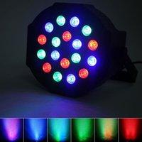 Горячие продажи 24 Вт 18-RGB светодиодный авто / голосовой контроль DMX512 движущаяся головка высокой яркостью мини-сценический лампа (AC 100-240V) черный подвиг