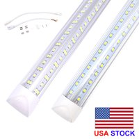 8FT LED Tube luzes V-Forma 8 Pé Design Loja LED Luzes Luminárias 2FT 3FT 4FT 5FT 6FT Cooler Porta Congelador Iluminação Lâmpadas Fluorescentes