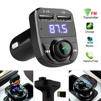 FM X8 Sender Aux Modulator Bluetooth Freisprecheinrichtung Car Kit Auto Audio MP3-Player mit 3,1A Schnellladung Dual USB-Autoladegerät