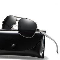 Güneş Gözlüğü Moda Erkekler Sungalsses Sürüş Polarize Adam Vintage Retro Balıkçılık Açık UV400 Gözlük Erkek Güneş Gözlükleri Zonnebril Heren1
