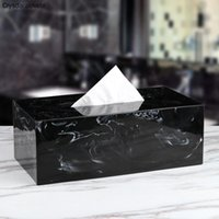 Creative Marble Resin Tissue Box Nordic Style Living Room Coffee Table Bedroom Napkin Tray Hotel Paper Towel Storage Box