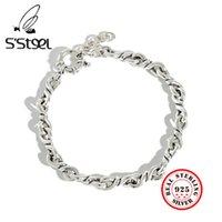 S'steel Braccialetti in argento sterling 925 per le donne Uomo Pulseras Mujer Moda Plata Punk Vintga Pulseira Bijoux gioielli argent LJ201020