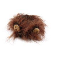 ПЭТ кошка собака эмуляция льва волос грива уши головы крышка осень зима одеваются костюм глушитель шарф 3 Nquih