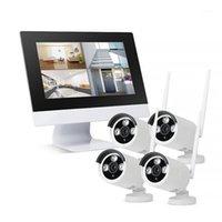 "Sistemas ZGWANG HD 1080P 4CH Wireless NVR CCTV Sistema 2MP WiFi IP Camera Security Videovillance Kit com 10.1 ""Monitor LCD Screen1"